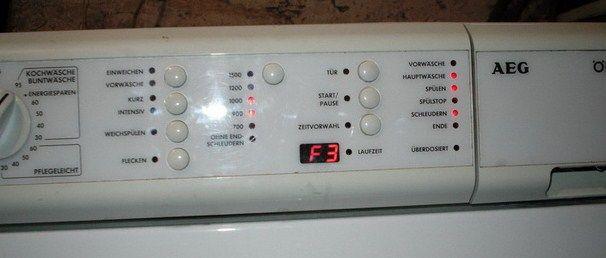Ошибки в стиральных машинах АЕГ