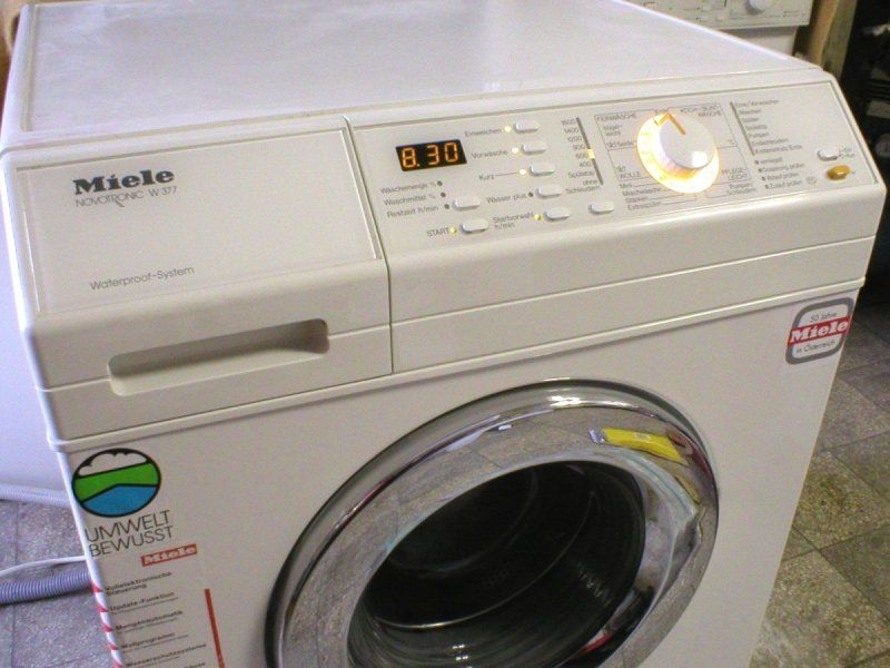 Ошибки в стиральных машинах Миле