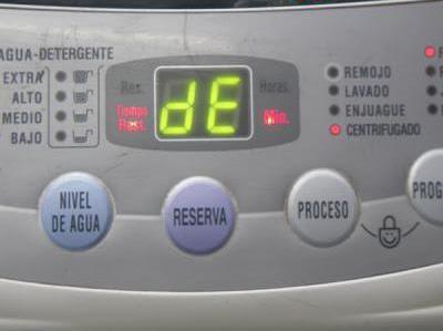 Ошибка DE в стиральных машинах LG