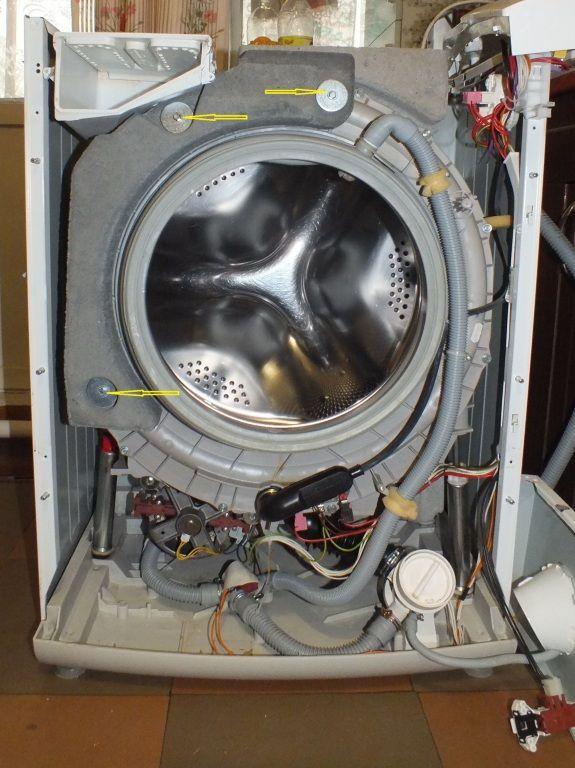 Износ подшипников на стиральной машине Ханса