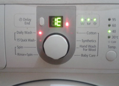 Ошибка Е7, 1Е, 1С в стиральной машине Samsung