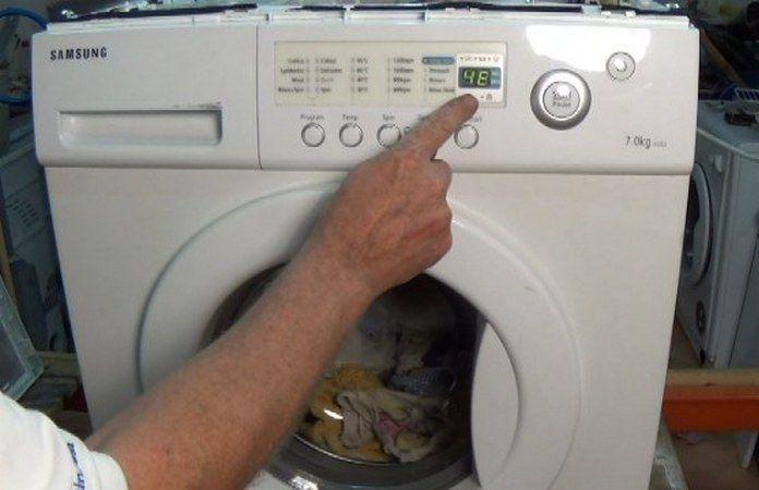 Ошибка Е1, 4Е, 4С в стиральной машине Samsung