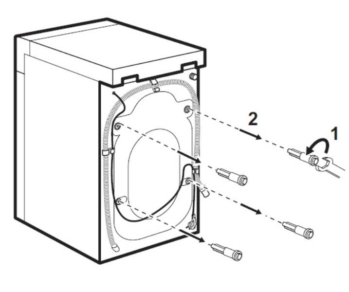 Как снять транспортировочные болты со стиральной машины