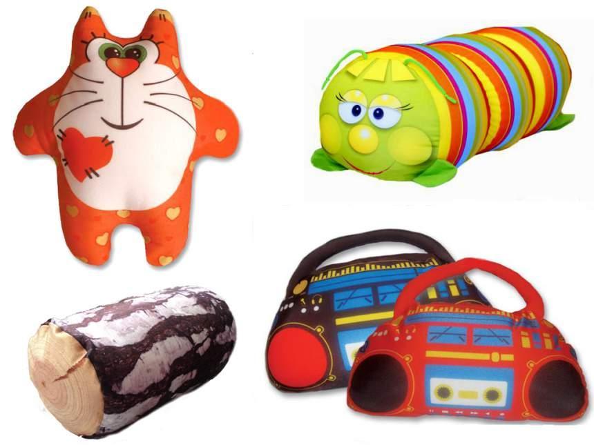 антистрессовые игрушки и подушки