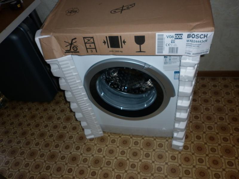 Первый запуск новой стиральной машины