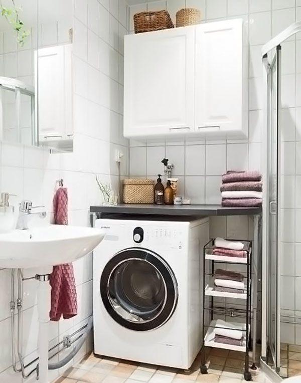 Как разместить стиральную машинку в ванной