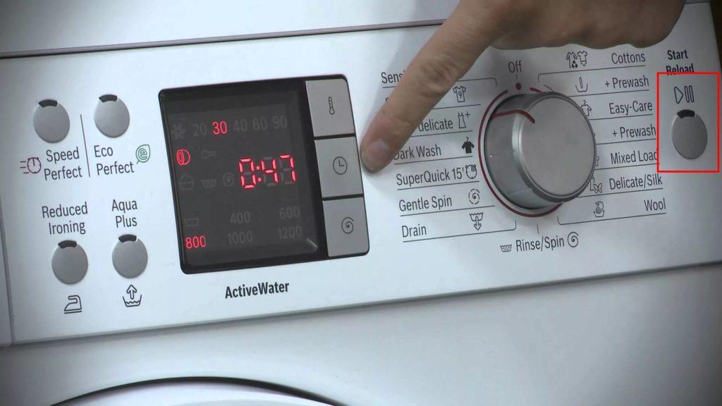 Как перезагрузить стиральную машину