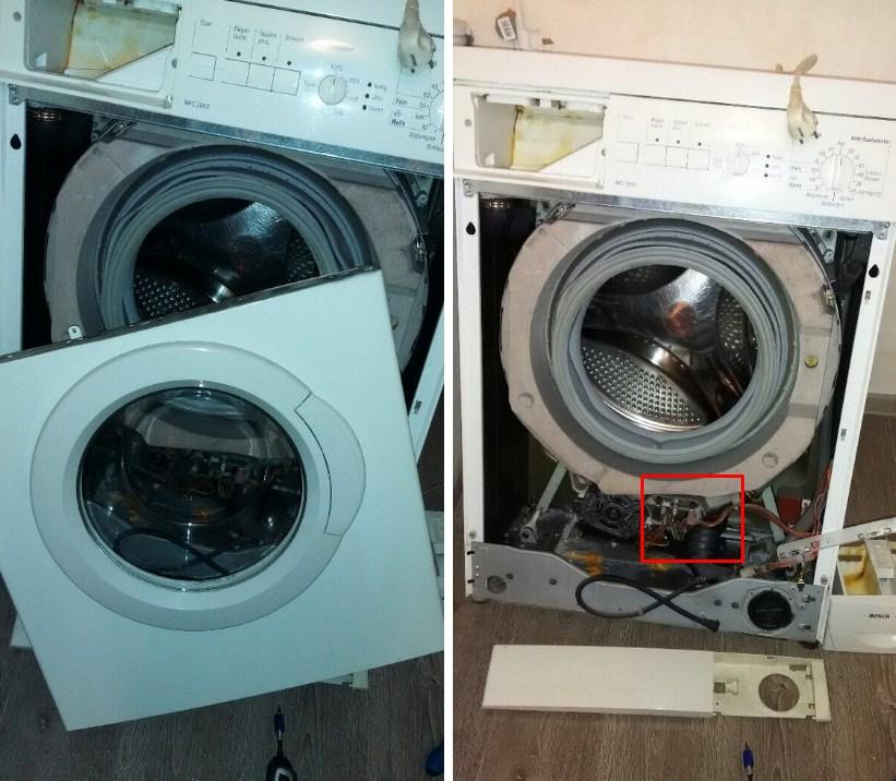 Где находится ТЭН в стиральной машине