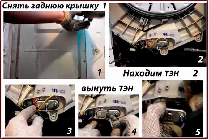 Если нагреватель расположен сзади, действуйте так:
