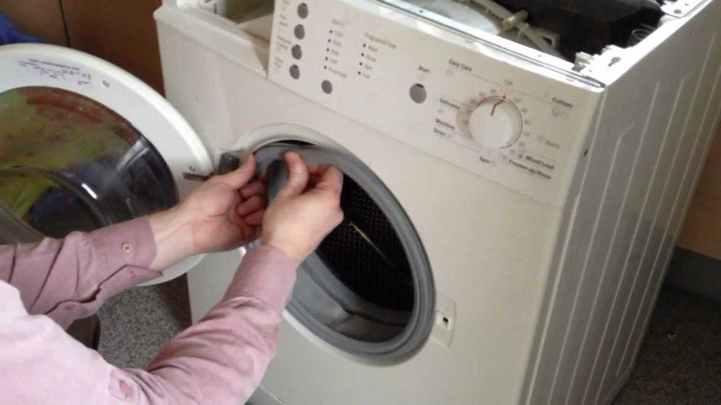 Как почистить резинку в стиральной машине
