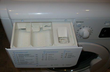 Откройте дозатор для моющих средств