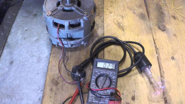Как сделать генератор из двигателя стиральной машины