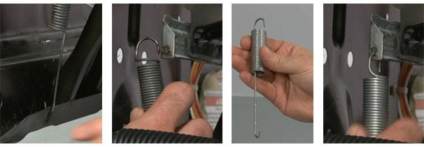 Как заменить пружины, амортизаторы, демпферы в стиральной машине
