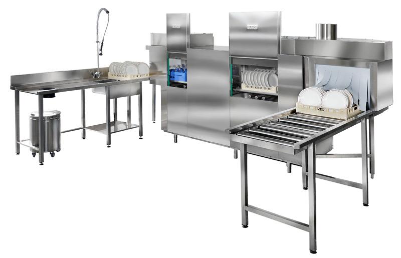 Обзор туннельных посудомоечных машин