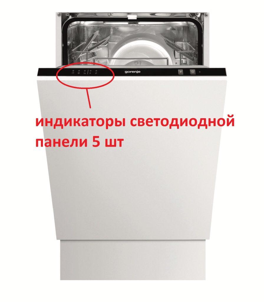 Как расшифровываются коды неисправностей посудомоек «Горенье»