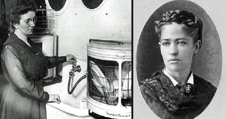Старинная фотография обладательницы самой первой посудомоечной машины в истории человечества