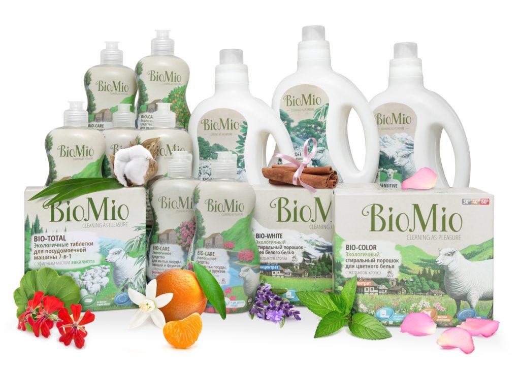 Коллекция чистящих средств линейки Био Мио с разными ароматами