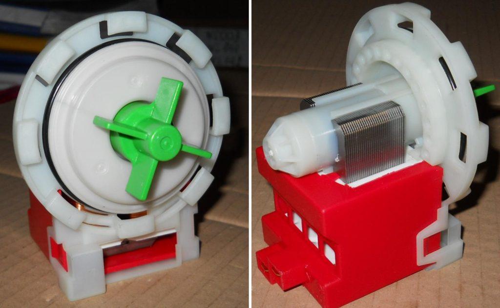 Исправная помпа осуществляет выкачивание воды из посудомоечной машины Электролюкс