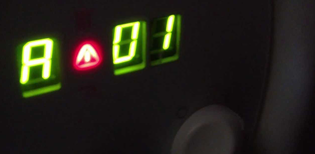 Ошибка А01 на дисплее холодильника при возникновении неисправности