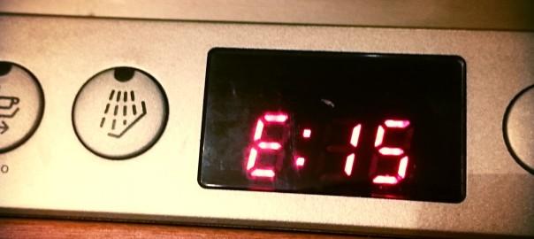 Оповещение на дисплее посудомоечной машины Бош о возникновении ошибки E15