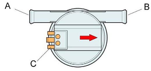 Схема датчика расхода воды в посудомоечной машине фирмы Бош