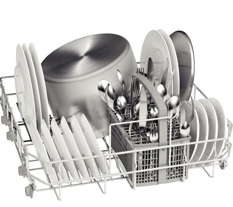 Полная загрузка одного лотка для посуды в посудомоечной машине