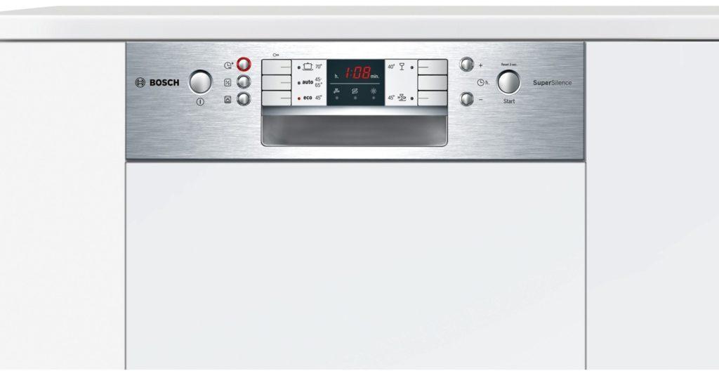 Вариант современной посудомоечной машины Бош со фронтальной панелью задач