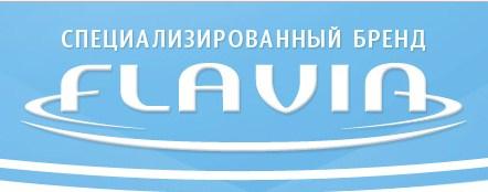 Логотип компании Флавия по производству посудомоечных машин для домашнего использования