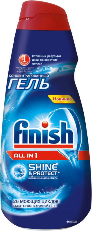 Экономичная бутылка специального геля Финиш для мытья посуды в посудомоечной машине