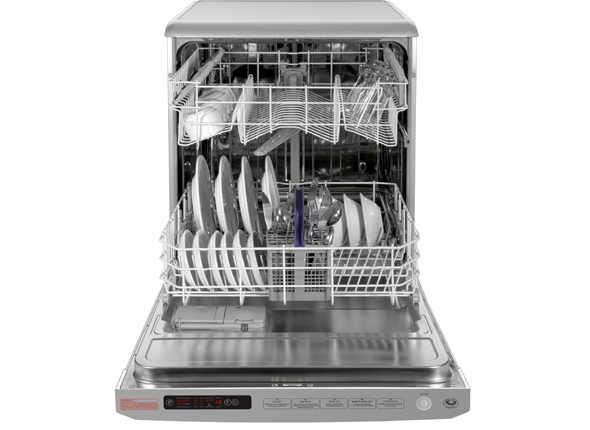 Стильная компактная посудомоечная машина фирмы Беко с двумя уровнями загрузки посудой