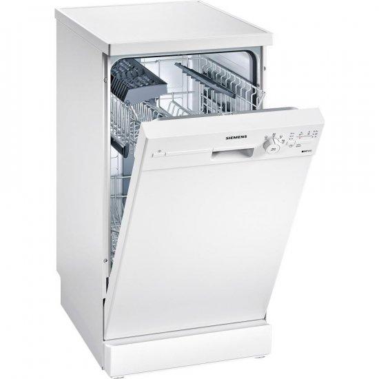 Узкая посудомоечная машина SIEMENS SR24E205 с механической панелью задач и мягкой подсветкой