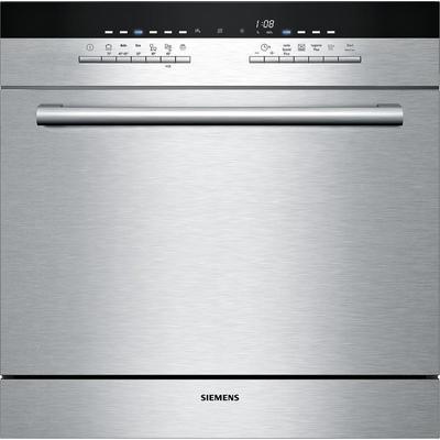 Стильная частичновстраиваемая модель посудомоечной машины Siemens SC 76M522 в серебристом цвете