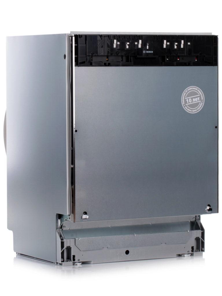 Полновстраиваемая посудомоечная машина Бош с наклейкой о гарантии на 10 лет