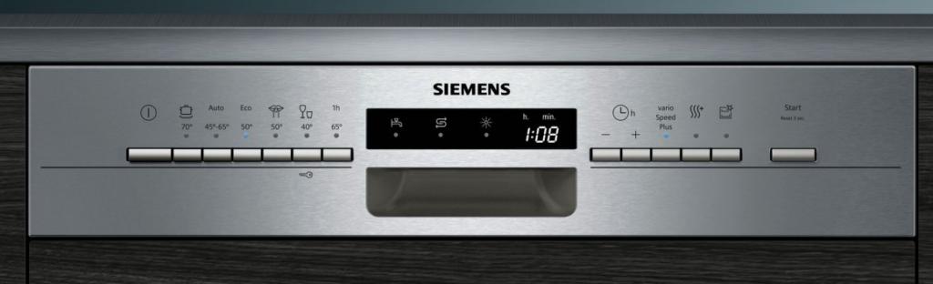Панель задач многофункциональной бытовой посудомоечной машины от компании Сименс