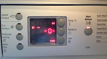 Программное устранение возникшей ошибки в посудомоечной машине Бош