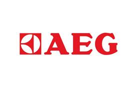Логотип компании по производству посудомоечных машин АЕГ с гарантией качества