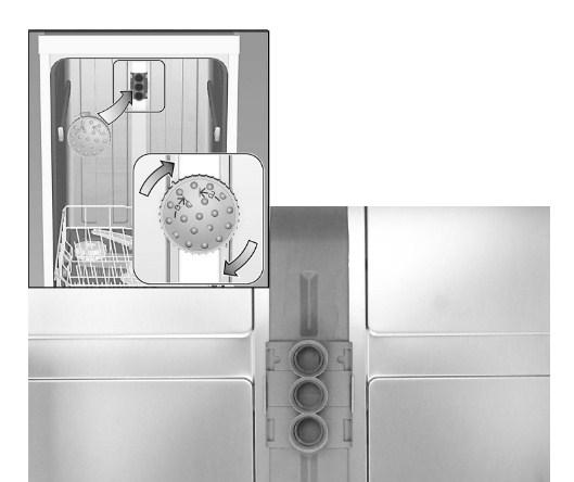 Принцип работы специальной насадки для мытья противней в посудомоечной машине
