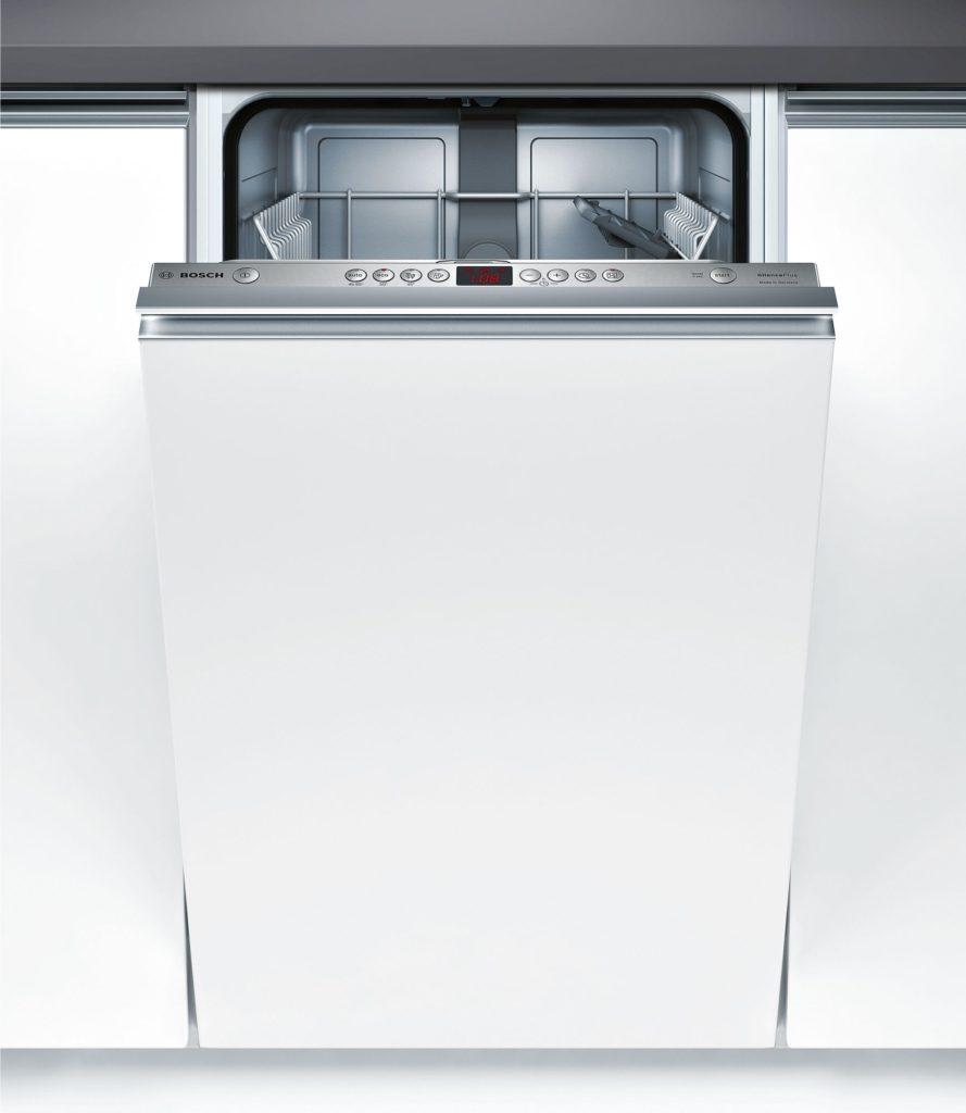Скрытая панель задач с дисплеем на встраиваемой посудомоечной машине Бош