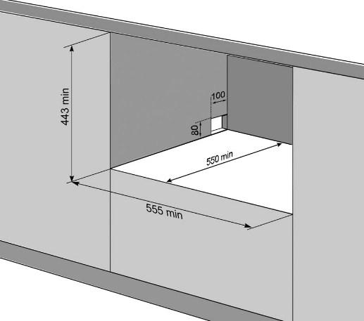 Размеры и вариант размещения компактной посудомоечной машины Флавия