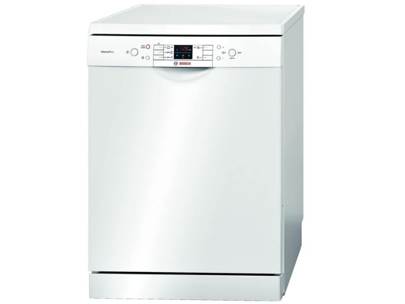 Белоснежная посудомоечная машина Бош с расширенным функционалом и дисплеем