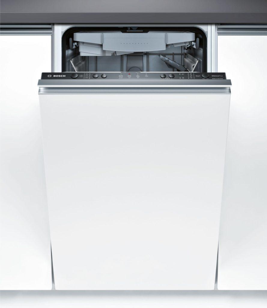 Строение посудомоечной машины Бош со скрытой панелью задач на передней панеле