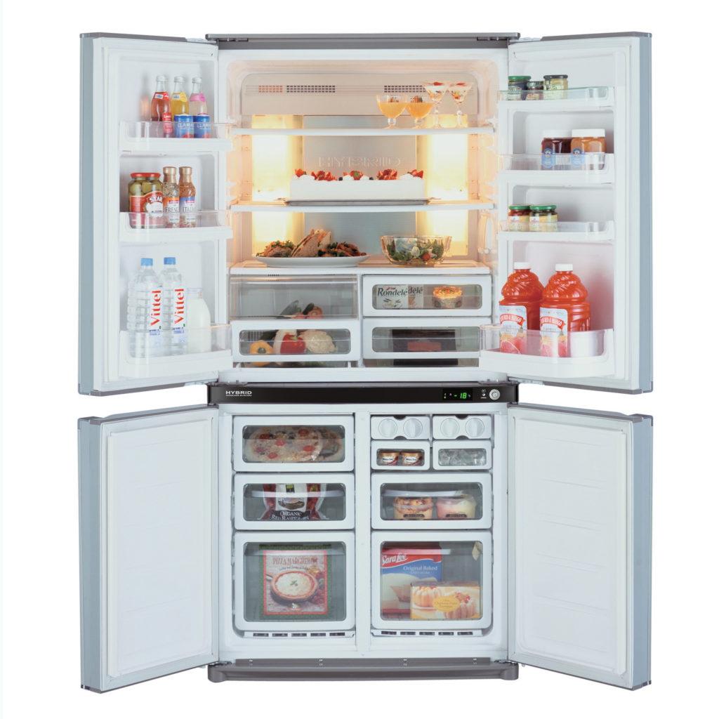 Холодильник Sharp SJ-F95STBE в открытом виде