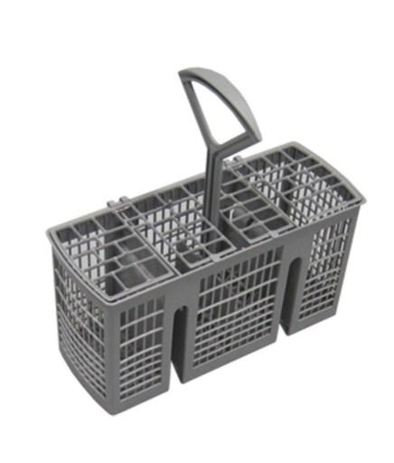 Специальная корзина с отверстиями для мытья столовых приборов в посудомоечной машине