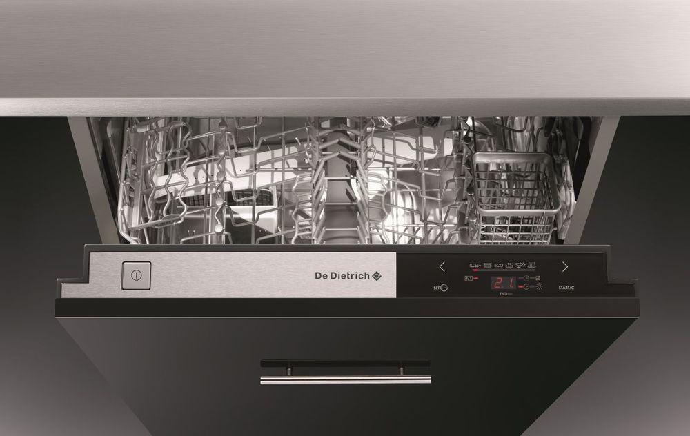 Стильная посудомоечная машина в строгом современном дизайре со скрытой панелью задач