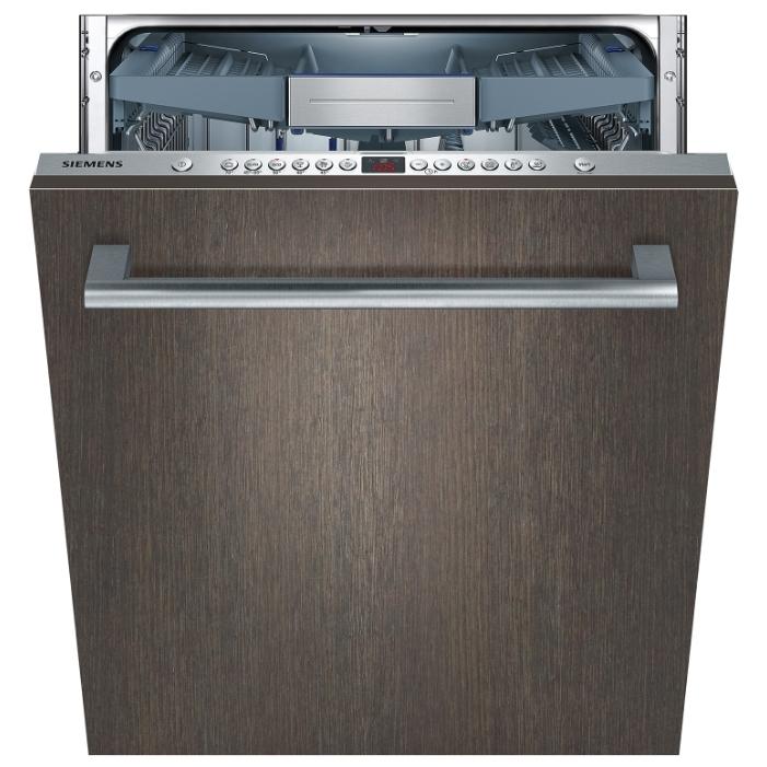 Модель встраиваемой посудомоечной машины Siemens SN 66M094 с фасадом под темное дерево