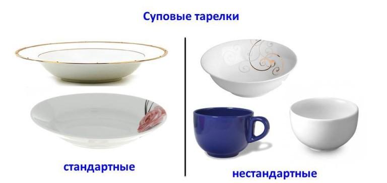 Комплект посуды на одну персону может состоять из нескольких столовых элементов