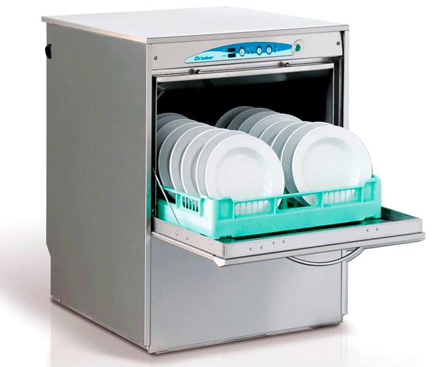 Небольшая компактная профессиональная посудомоечная машина для кафе и небольших столовых