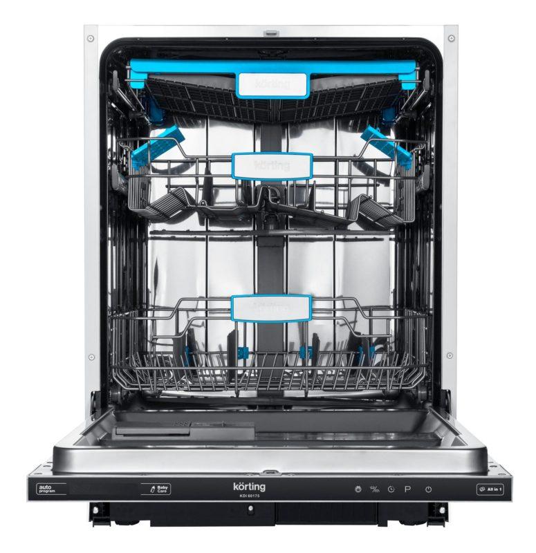Открытая посудомоечная машина Кертинг с двумя лотками для посуды и отделением для птоловых приборов