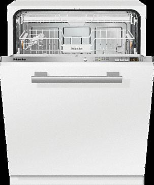 Элегантная посудомоечная машина фирмы Миеле с удобной ручкой на фасаде и скрытой панелью