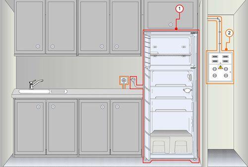 Схема подключения холодильника